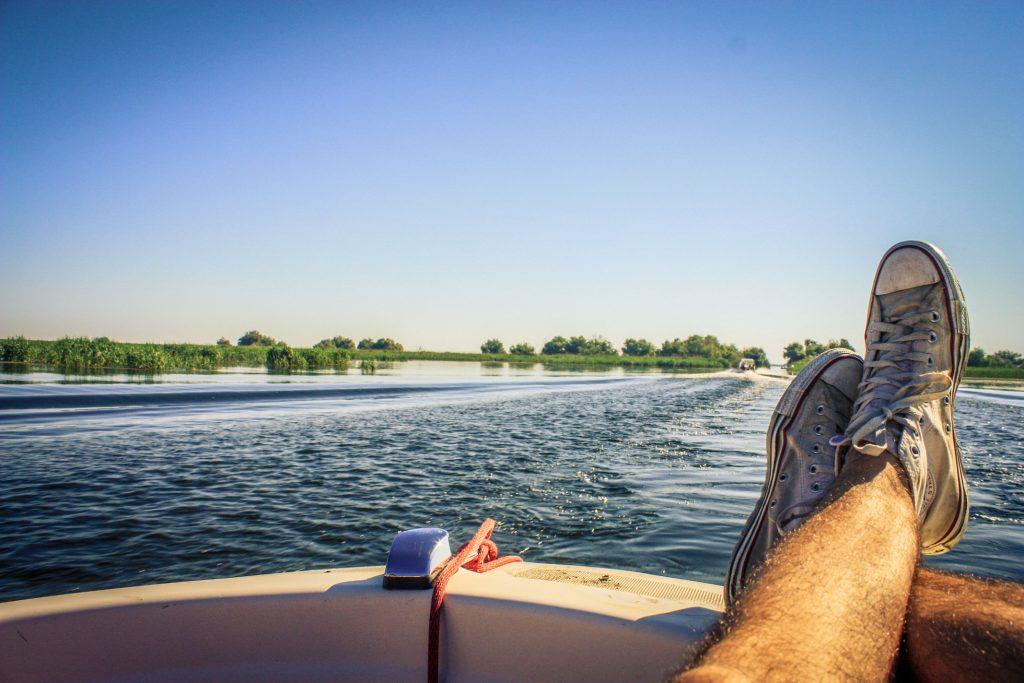 On a boat in Danube Delta