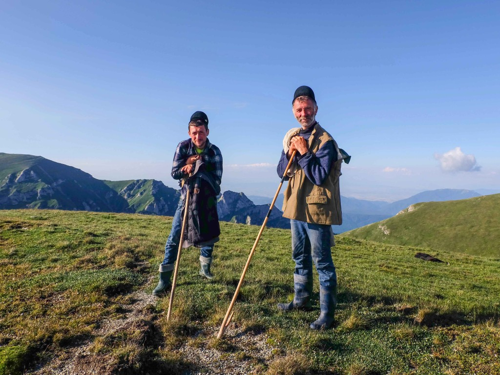 Romanian locals in Bucegi Mountains