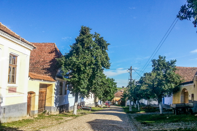 viscri village street
