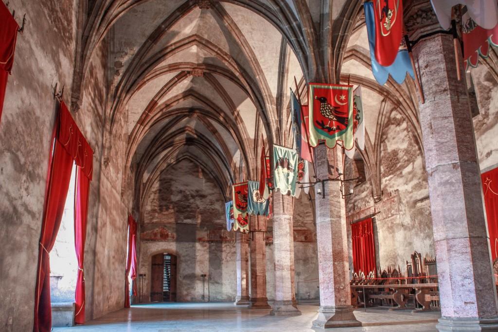 Inside Corvin Castle