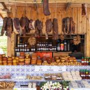 Romanian food stalls