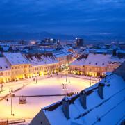 Sibiu Transylvania winter