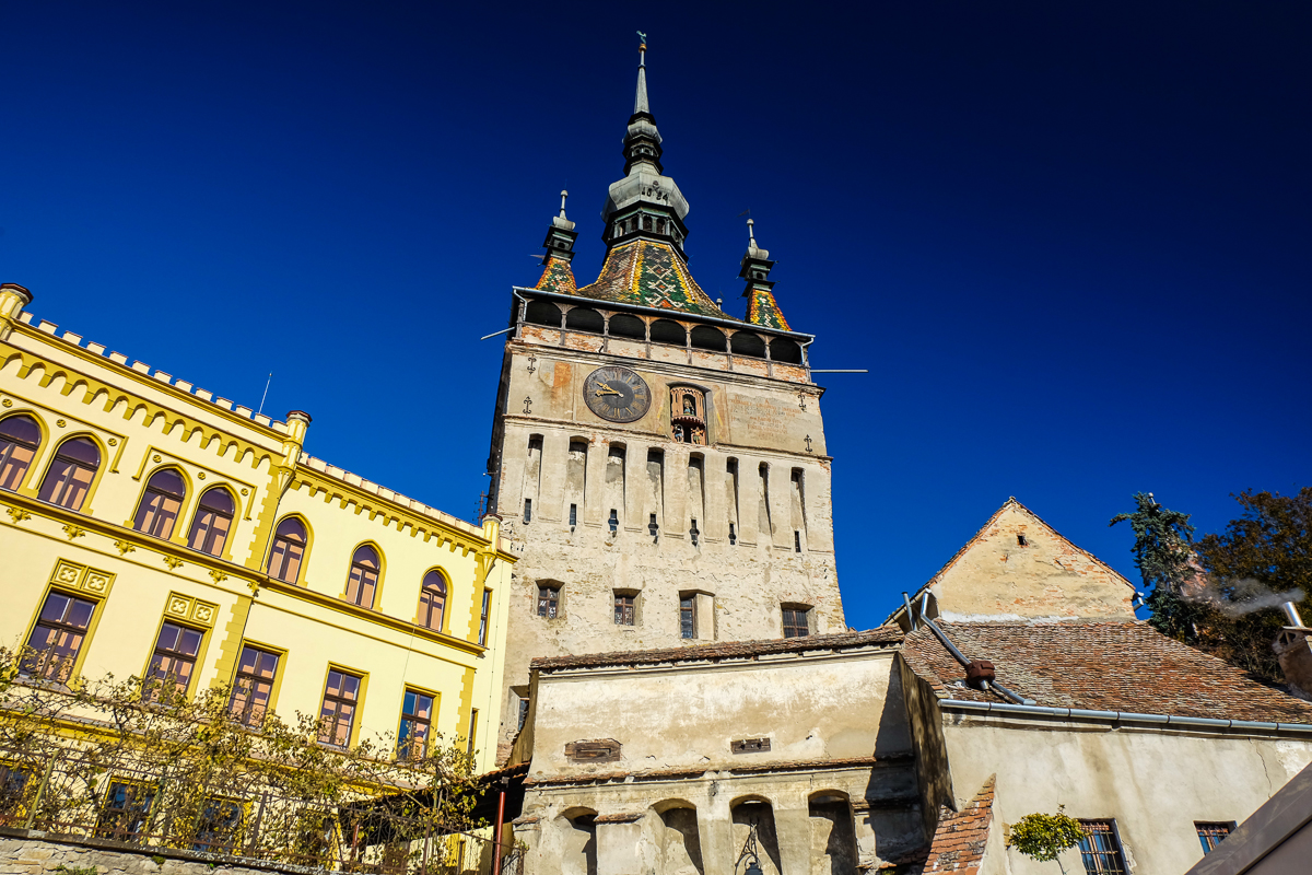Sighisoara tower Transylvania